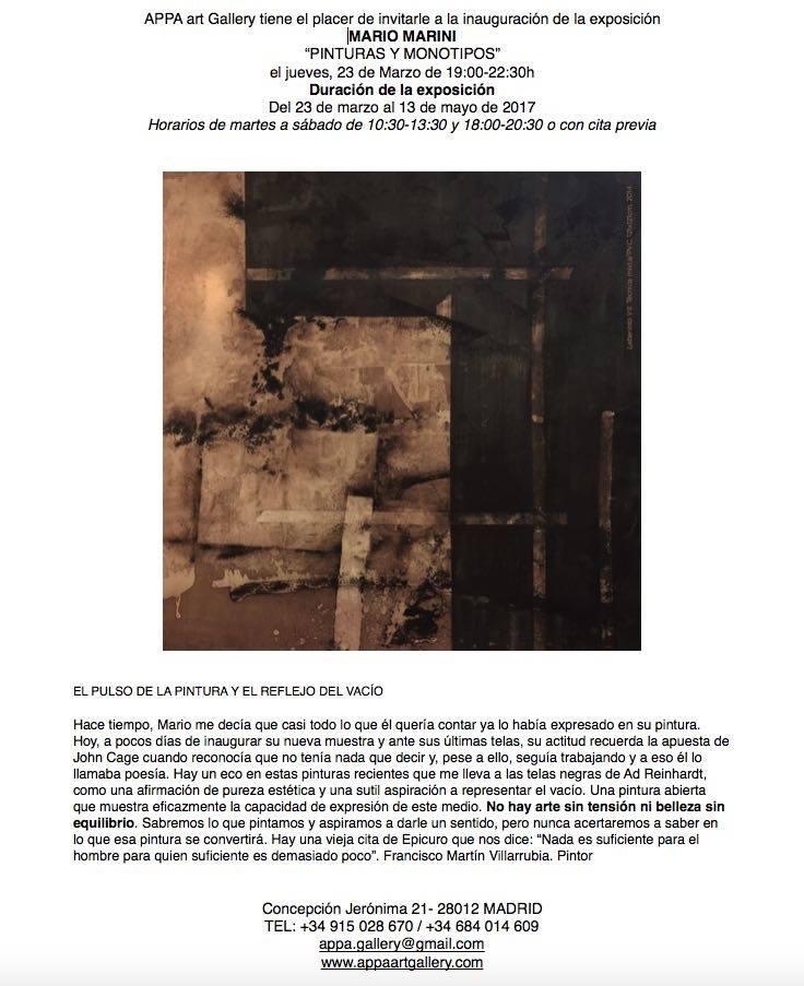 exposición de Mario Marini
