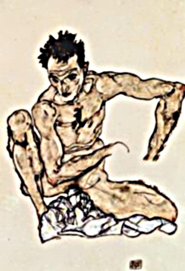dibujos erotismo, Egon Schiele