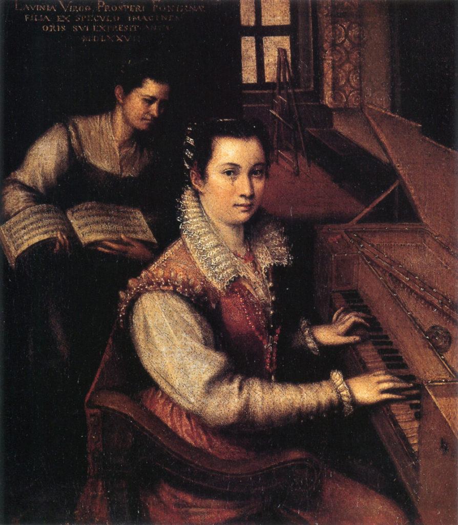 Autorretrato tocando la espineta. Lavinia Fontana (1577) Accademia Nazionale di San Luca, Roma.