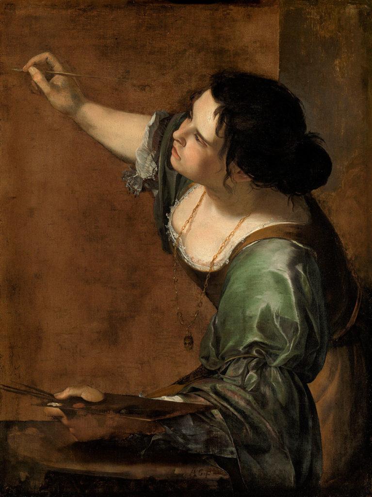 Autorretrato de Artemisia Gentileschi como alegoría de la pintura. (1638-39).