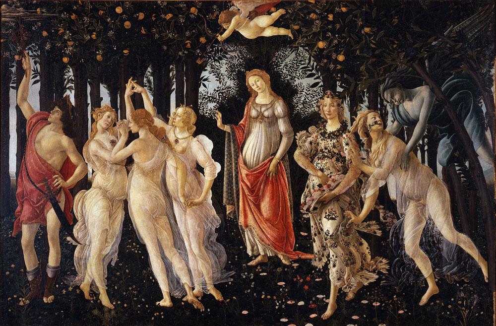 Sandro Botticelli: La Primavera (1480), Galería Uffizi, Florencia