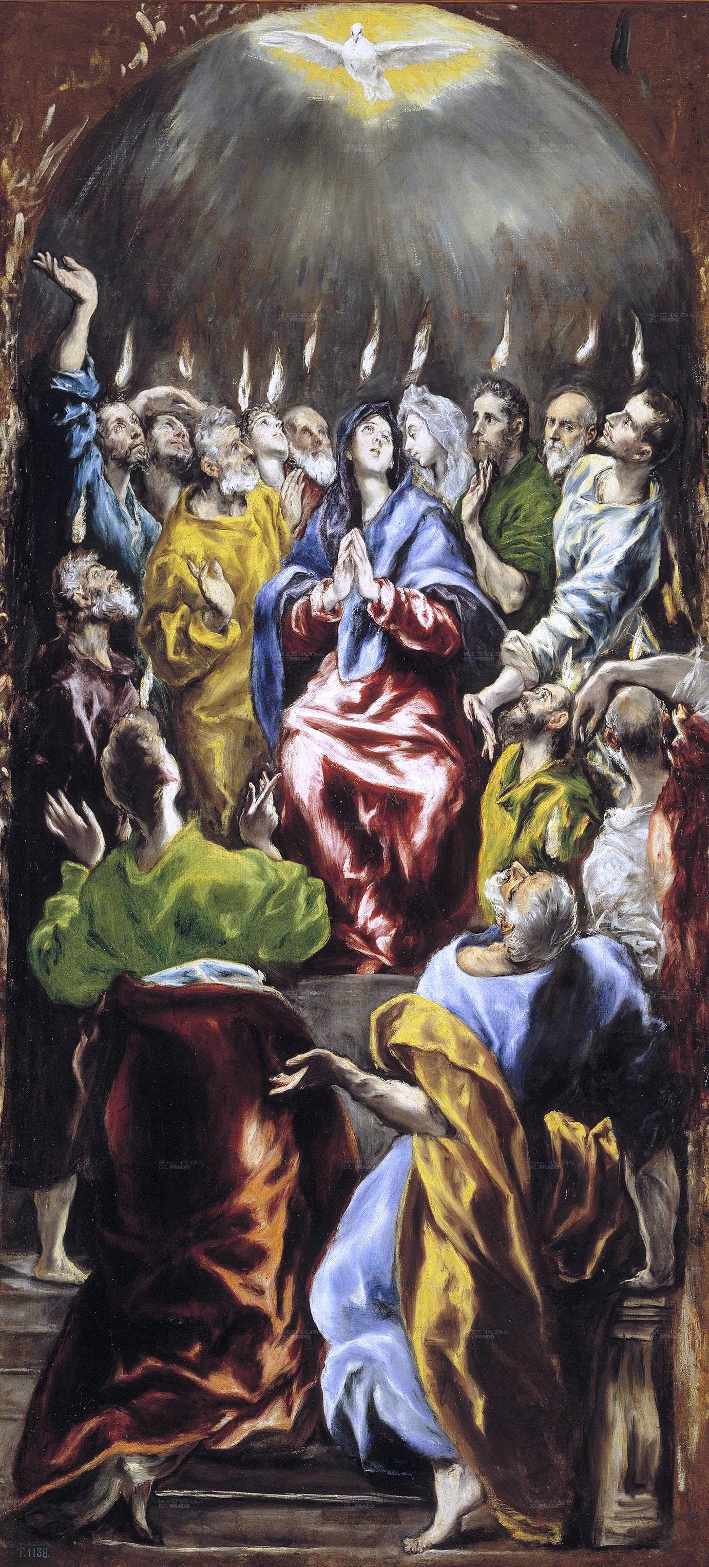 El Greco: Pentecostés (1597 – 1600), óleo sobre lienzo, Museo del Prado, Madrid