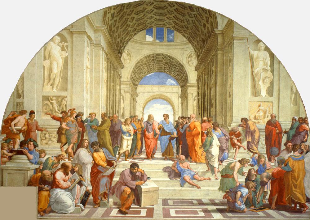 Rafael Sanzio: La escuela de Atenas (1510-11), Museos Vaticanos.