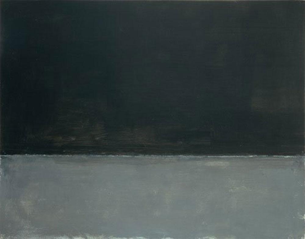 Mark Rothko: Negro sobre gris (1969) óleo sobre lienzo, Tate, Londres.