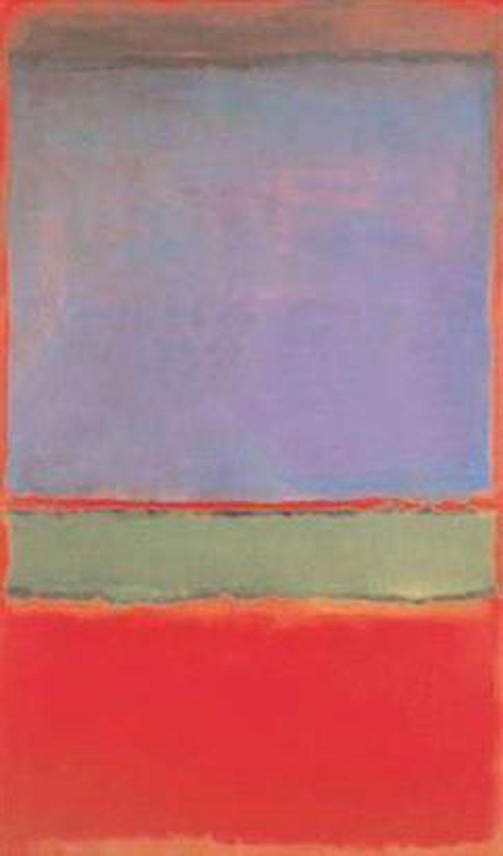 Mark Rothko: N. 6: Violeta, Verde y Rojo (1951), óleo sobre lienzo, Colección privada.