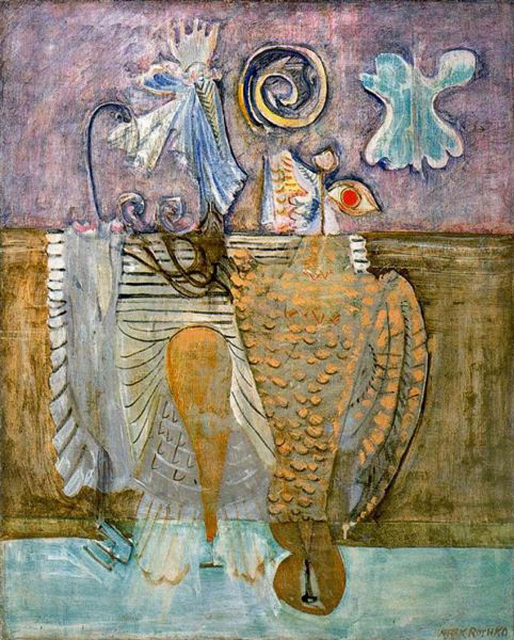 Mark Rothko: Aves jerárquicas (1944), óleo sobre lienzo, National Gallery of Art, Washington, DC.