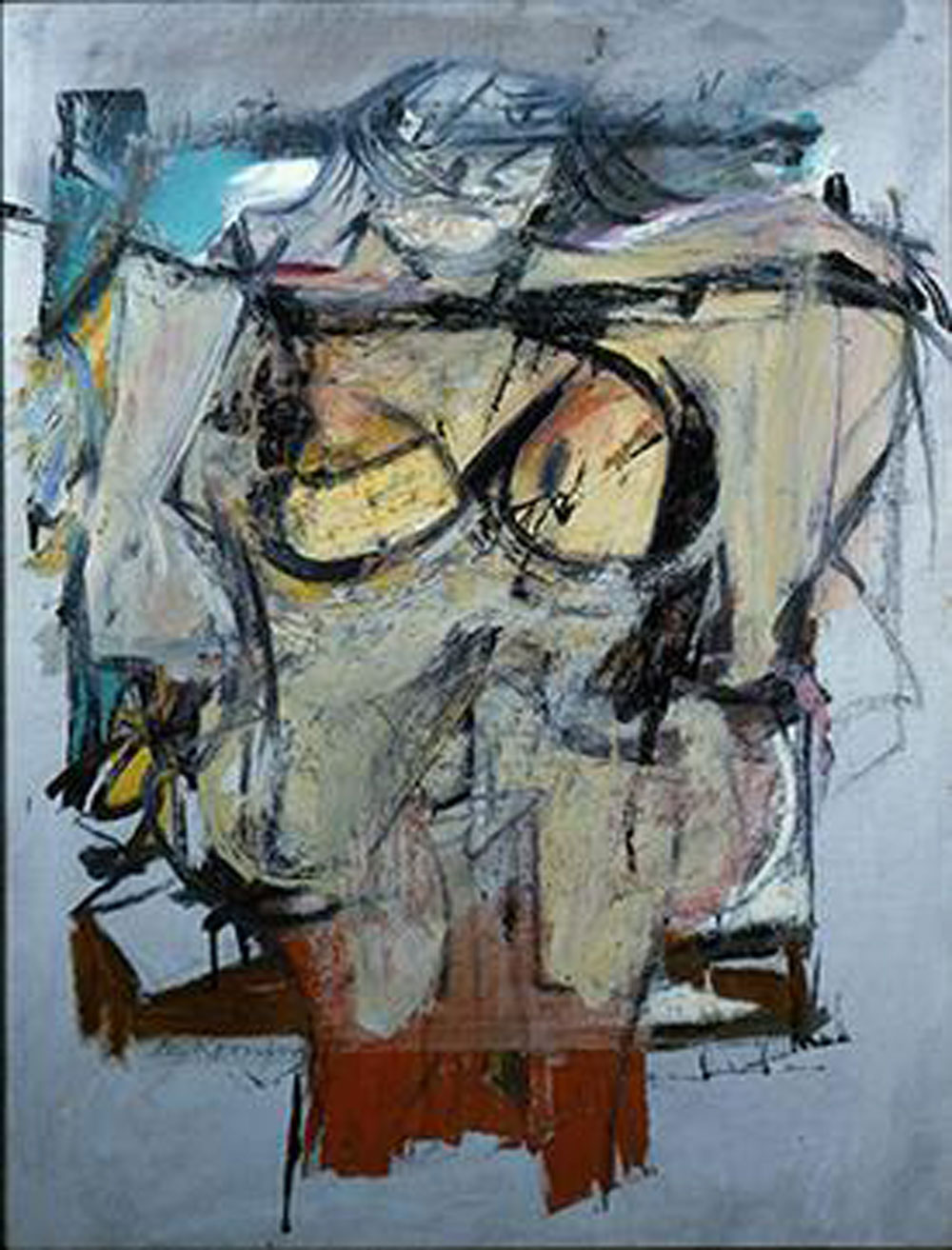 Willem de Kooning: Mujer ocre (1955). Óleo sobre lienzo. University of Arizona Museum of Art.