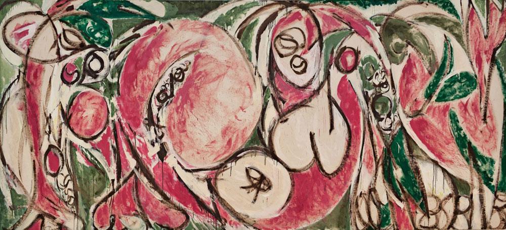 Lee Krasner: Las estaciones (1957), óleo y pintura industrial sobre lienzo, Whitney Museum of American Art, Nueva York.