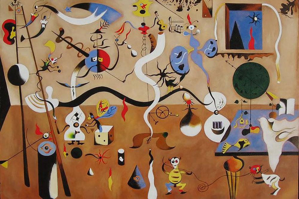 Joan Miró: El Carnaval de Arlequín (1924-25), óleo sobre lienzo, Albright-Knox Art Gallery, Buffalo (EEUU).