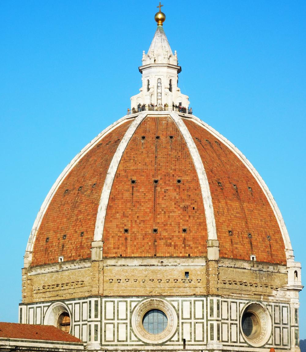 Filippo Brunelleschi: Cúpula de la catedral Santa María del Fiore de Florencia (1420-1434), en cuya realización planteamiento también participó Lorenzo Ghiberti.
